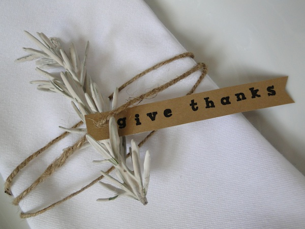 Thanksgiving DIY Plaster Rosemary Napkin Ring Tutorial