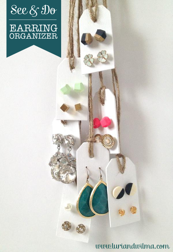 DIY Earring Organizer Tutorial by Fabric Paper Glue for Luri and Wilma
