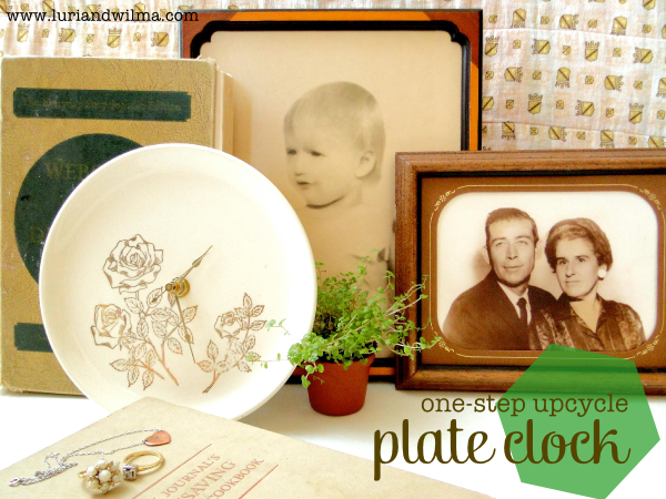 One Step Upcycle - DIY Plate Clock.png