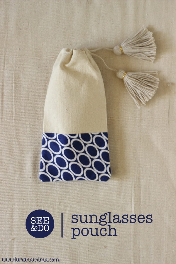 DIY Tasselled Sunglasses Pouch
