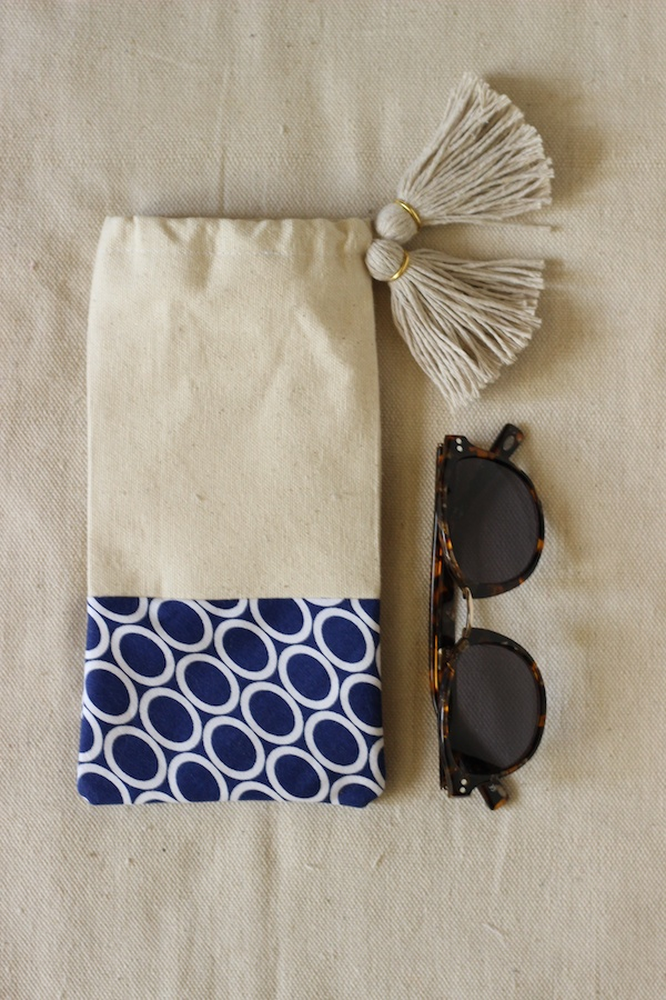 Fabric Paper Glue for Luri & Wilma | DIY Tasselled Sunglasses Pouch