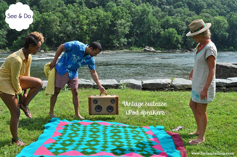 vitange suitcase speaker DIY