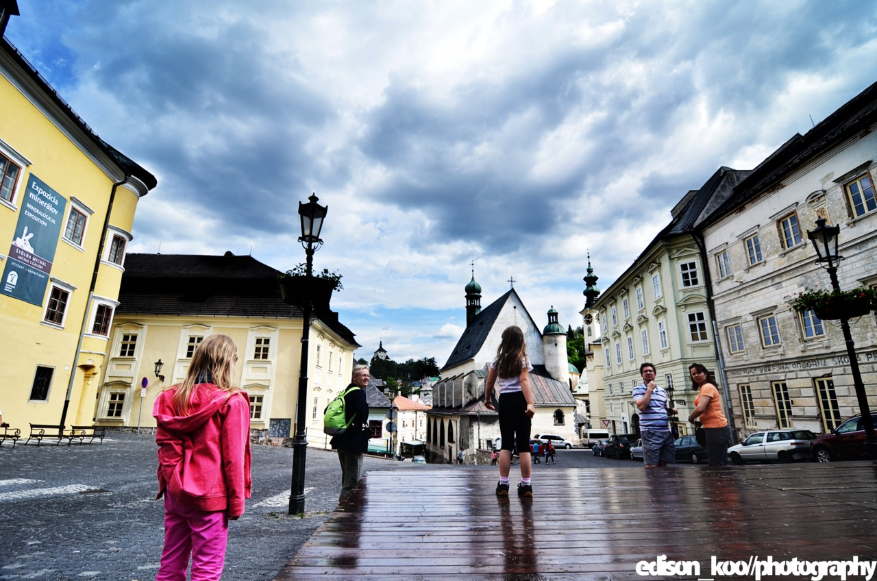 Banska Stiavnica, Slovakia with the fam