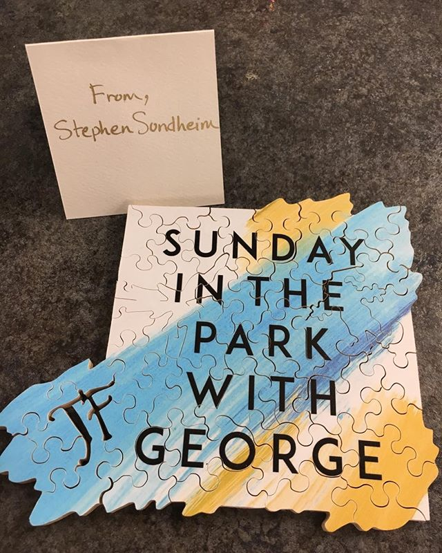 "What?!! This killed me. ""JF"" Thank you Stephen Sondheim - you continue to give us treasures. @sundayparkbroadway"