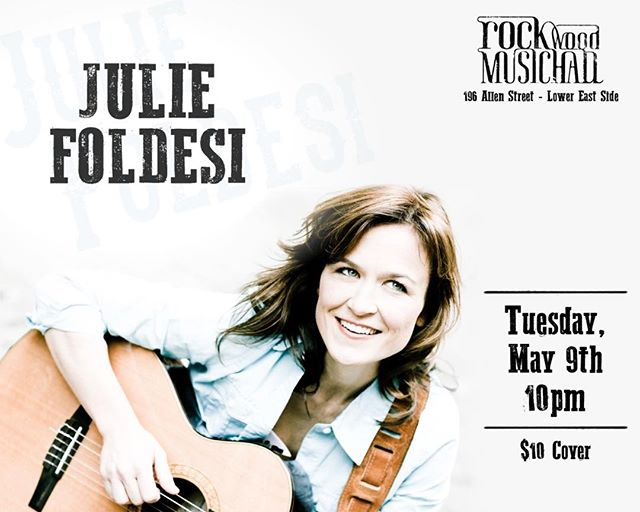 This Tuesday!!! http://www.ticketfly.com/event/1468899-julie-foldesi-new-york/