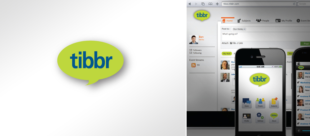 tibbr logo design