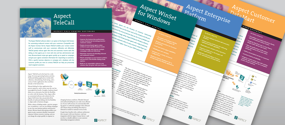 Aspect data sheet system.