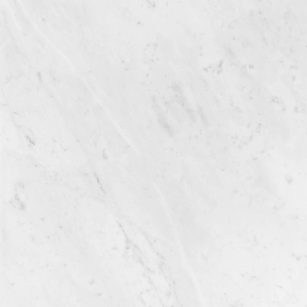 One of the more popular choices for white Tops, however the silver grey tone from this marble, makes it a much darker choice than the crystal white.