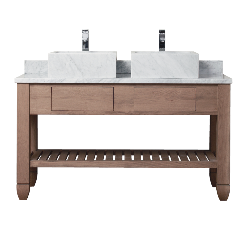 Porter Vanities Cavendish Double Oak Wood Vanity