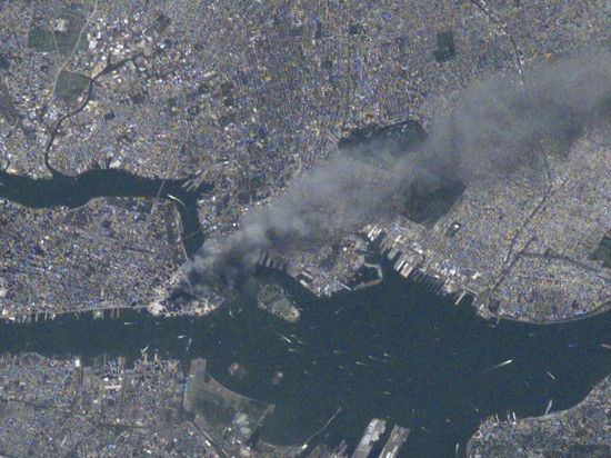New York on 9/11/2001 from the International Space Station