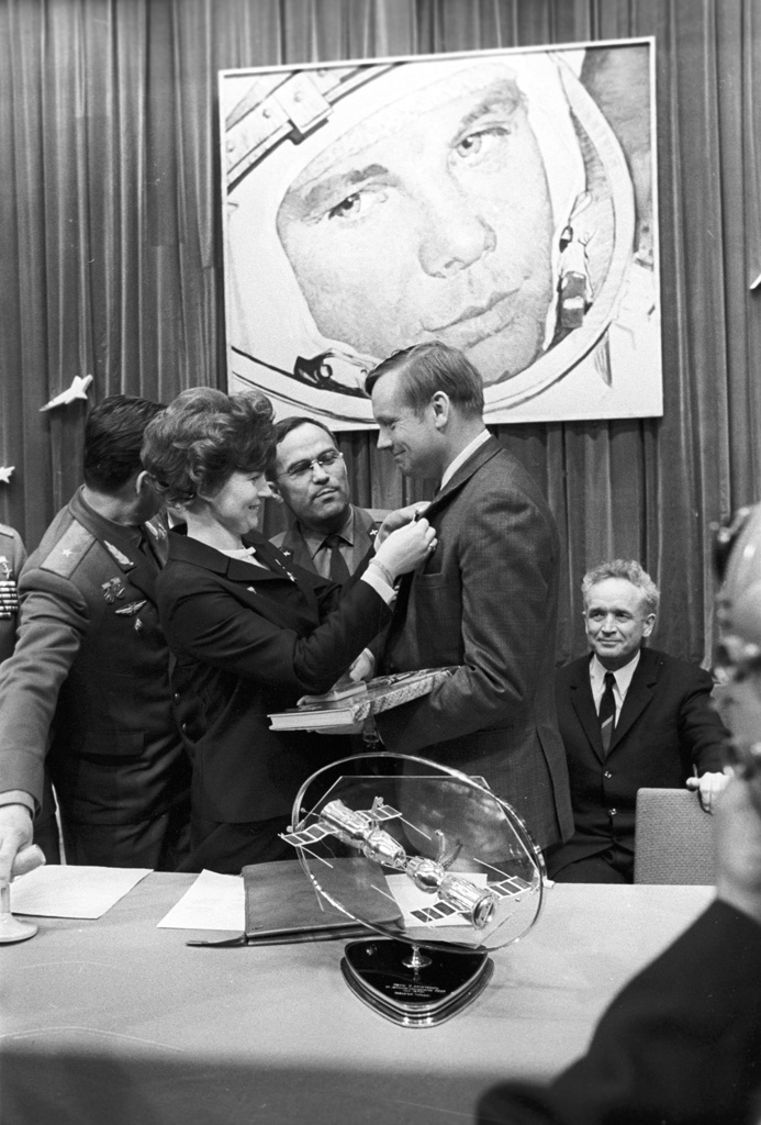 Valentina Tereshkova and Neil Armstrong, 1970