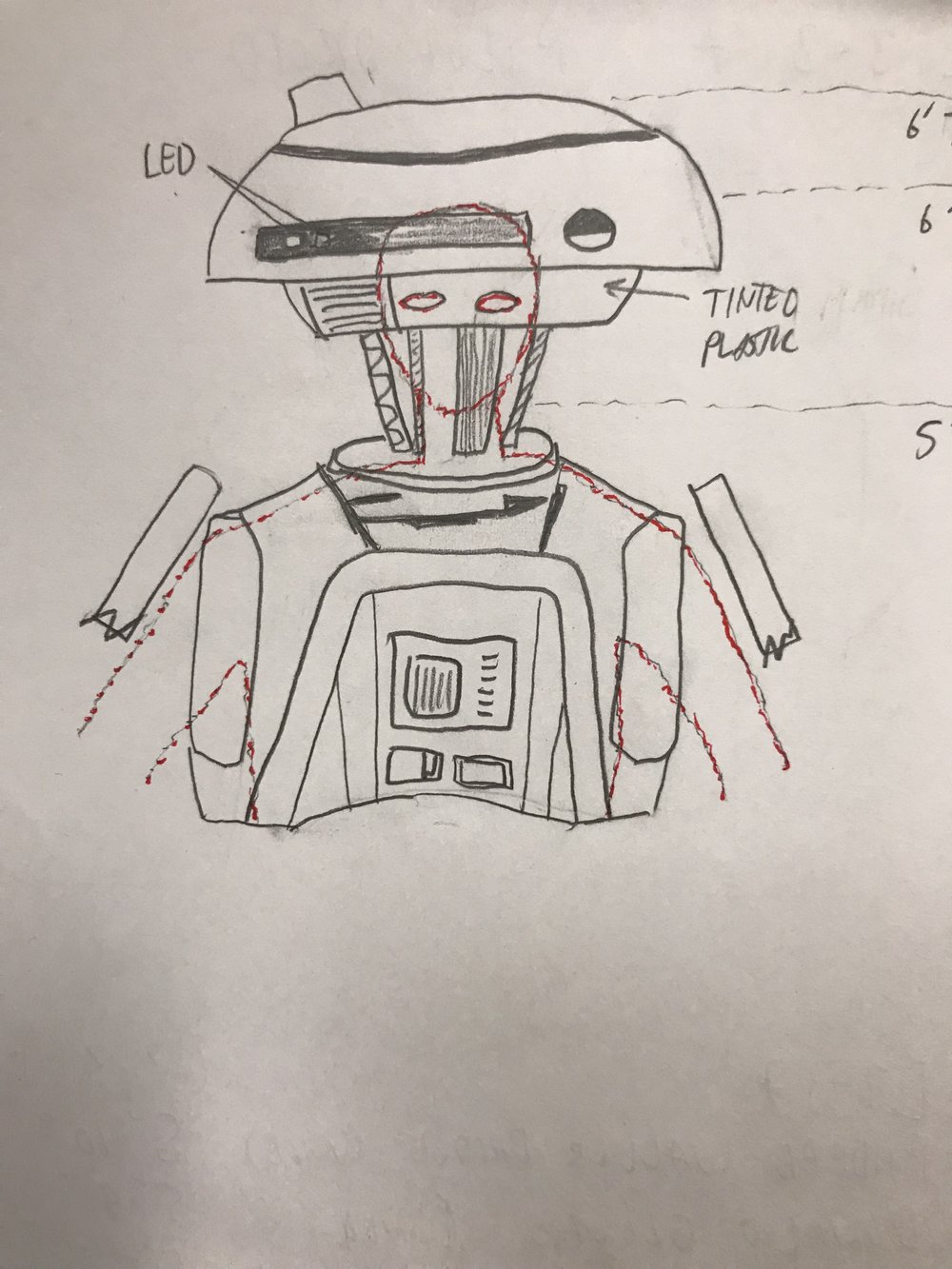 Initial concept for my body alignment inside L3. Hiding my head inside her neck and lower dome.