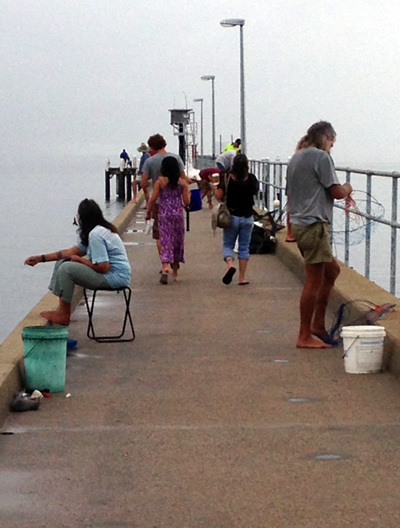 Guests fishing off Cardwell jetty