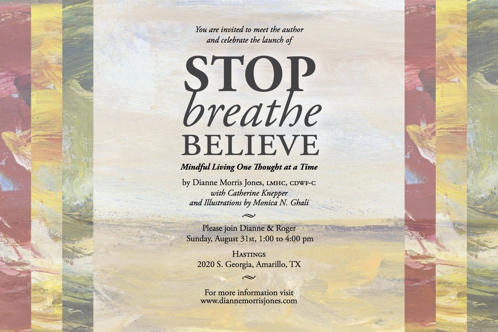 Stop Breathe Believe - Amarillo Book Signing