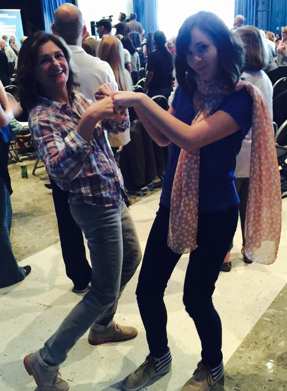 Dancing with Jill while Studying Neuroscience of Play, Creativity and Mindfulness with Daniel Siegel in LA, CA in March