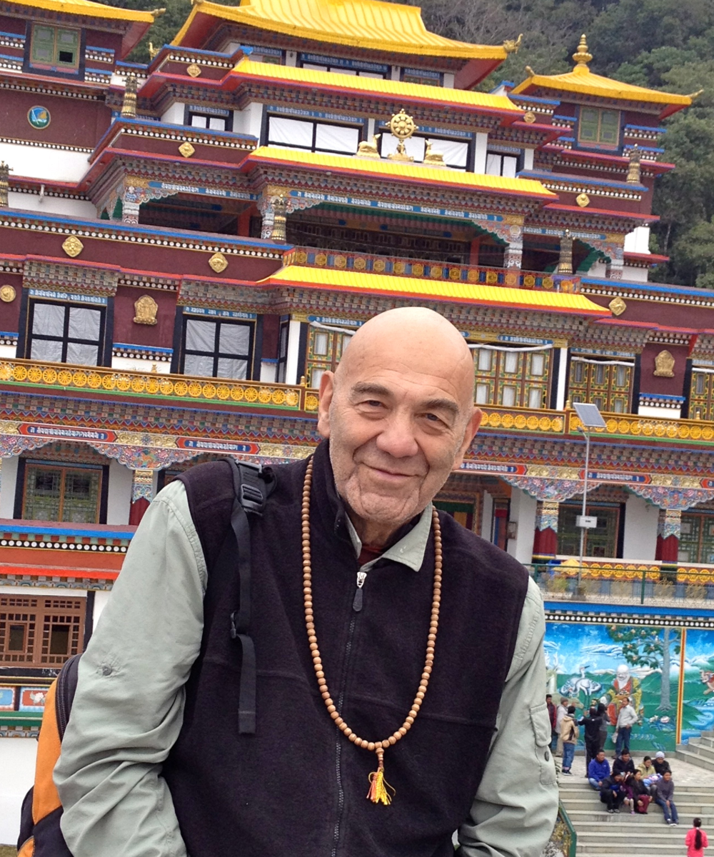 bruce taub on walkabout - temple in remtuk, sikkim on new year's day 2012.