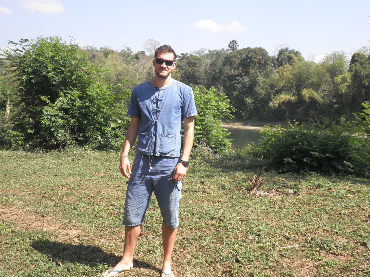 "Me in my ""Mahout"" outfit.  How cool do I look?"