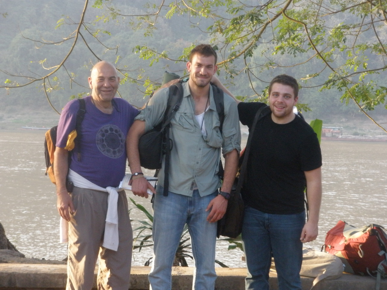 The boys arrive in Laung Prabang, Laos.