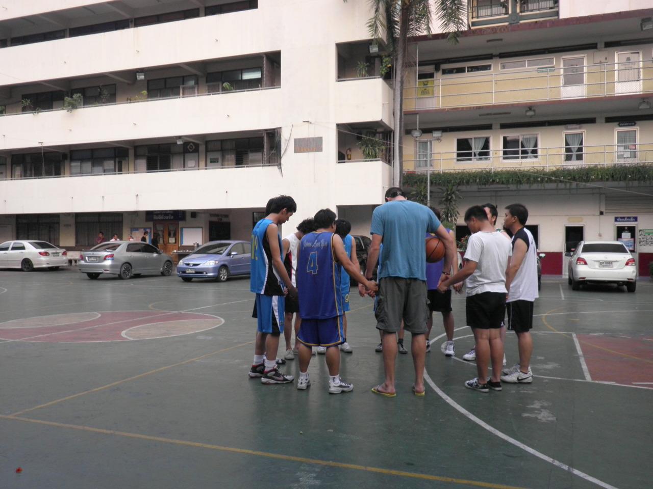 We pray before we play.