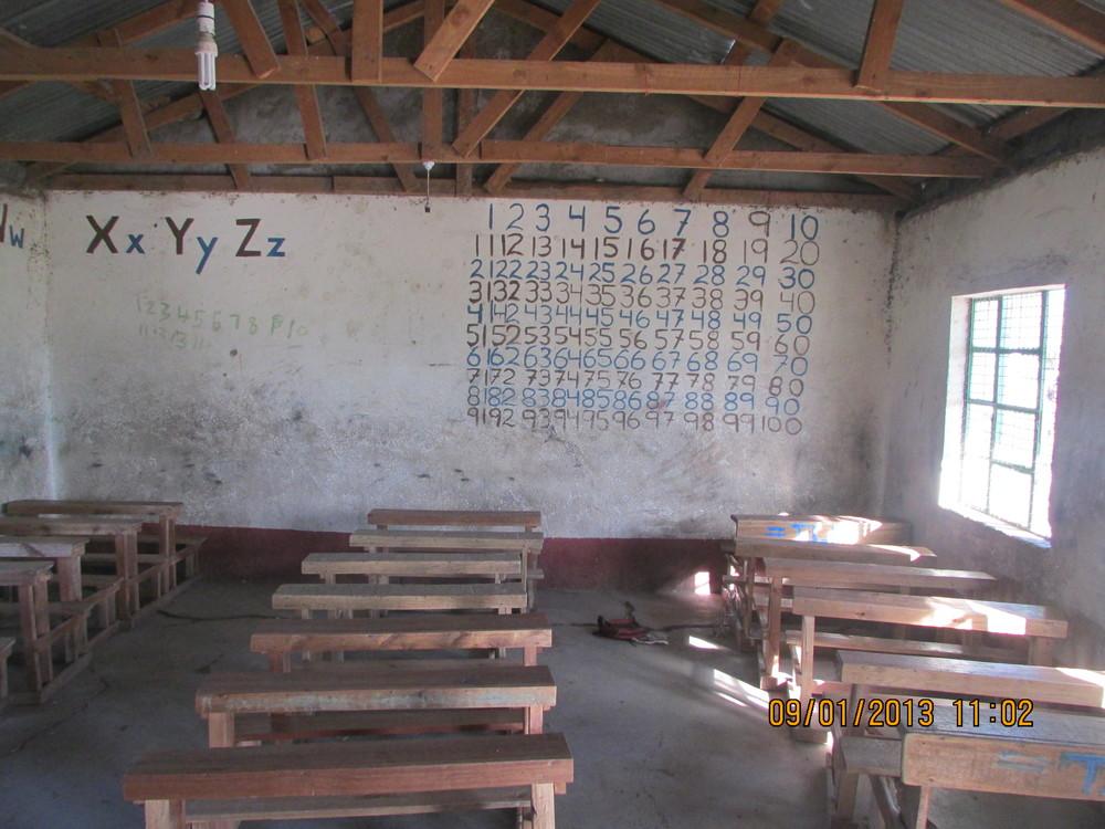 classroom just outside Maasai village