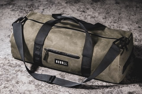 Waxed Canvas Duffel Bag - Waxed Canvas Traditional Duffel (Army) by NOBULL