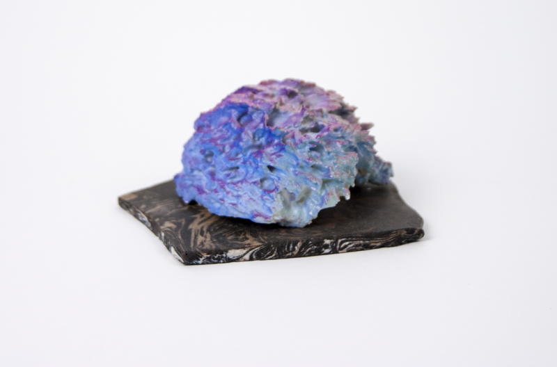 Sea of Love (with B.R.),  2013  Porcelain, acrylic paint, hydrocal and pigments  1.5 x 3.5 x 4 inches