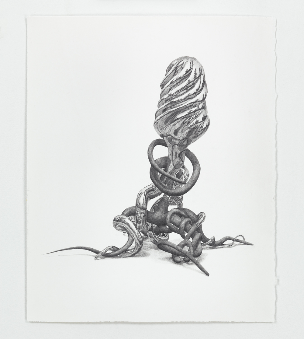 Benjamin Ritter   Untitled 05 , 2012  Graphite on paper   14 × 11 inches