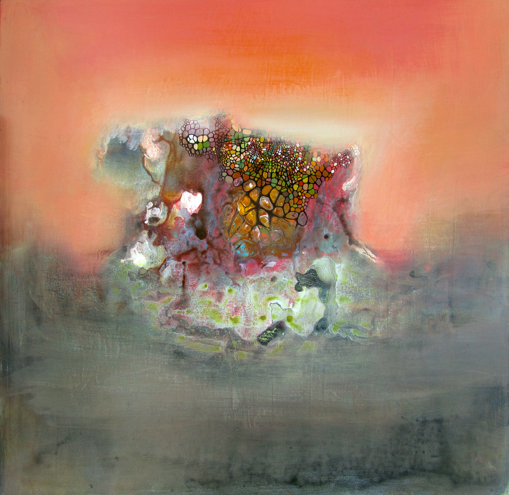 Jennifer Coates           Reef , 2012  Acrylic on canvas  36 x 36 inches