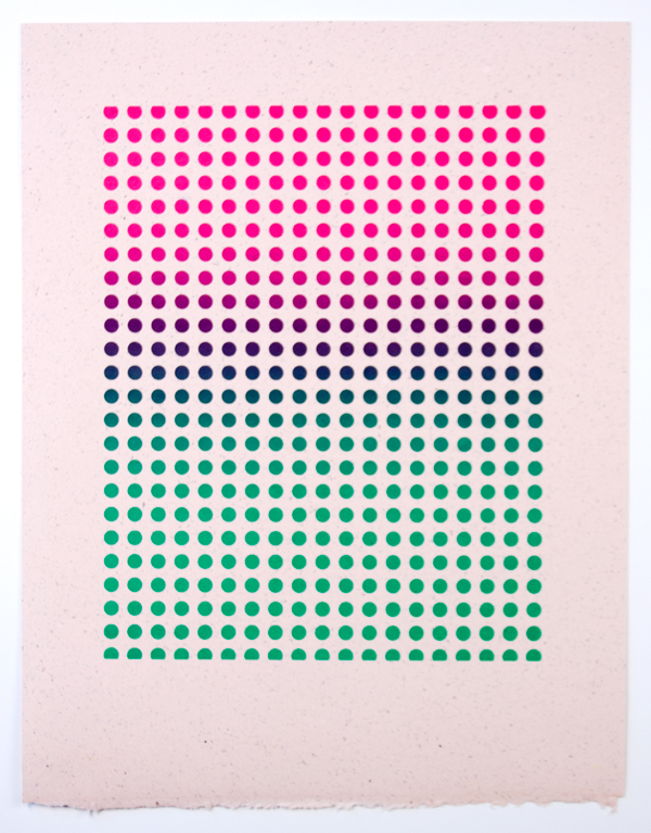 Dazzle (Desert Flower) , 2012  Silkscreen print on handmade paper  14 x 11 inches