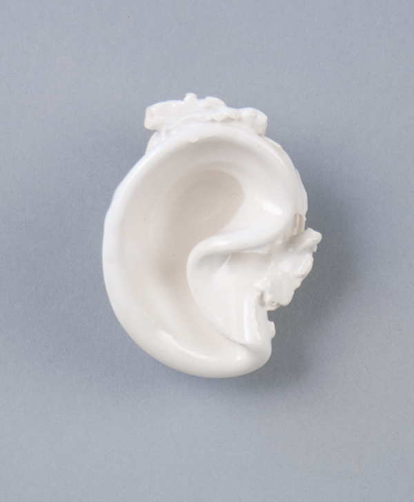 In a  Whisper , 2011  Glazed porcelain  3 x 2.5 x 1 inches