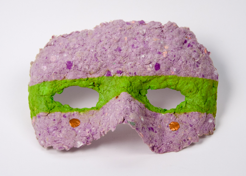 A Pauper's Mask , 2013  Cast paper and acrylic paint  4.5 x 6 x 1 inches