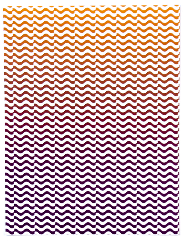Nervousness (Sunset Stripes) , 2012  Silkscreen print on paper  10 x 8 inches
