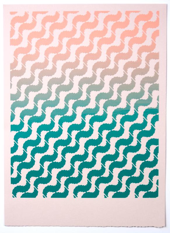 Tessellate (Southwest Dentist) , 2012  Silkscreen print on paper  12 x 9 inches