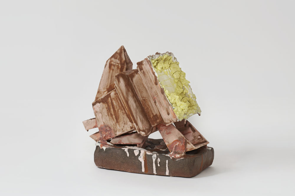Paul Krause   Untitled (Monolith #1) , 2013  Ceramic  9 x 10 x 7 inches