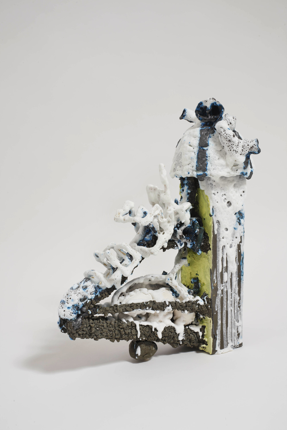 Paul Krause   Untitled (Vertical Slide) , 2012  Ceramic  27 x 20 x 12 inches