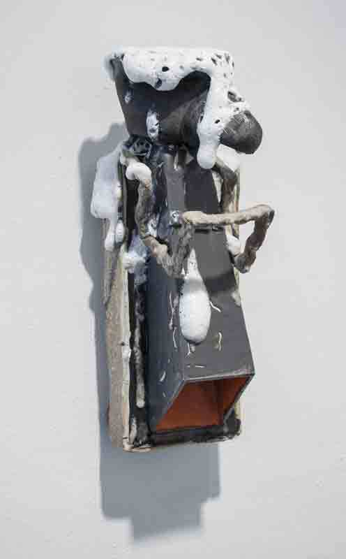 Paul Krause   Untitled (Sip Cup Figure) , 2013  Ceramic  14 x 8 x 6 inches