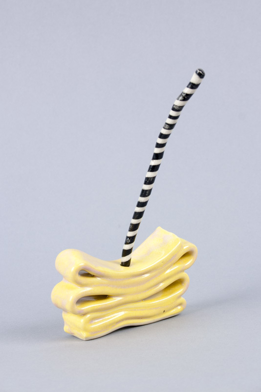 Daffy Taffy , 2013  Glazed porcelain  6.5 x 4 x 1.25 inches