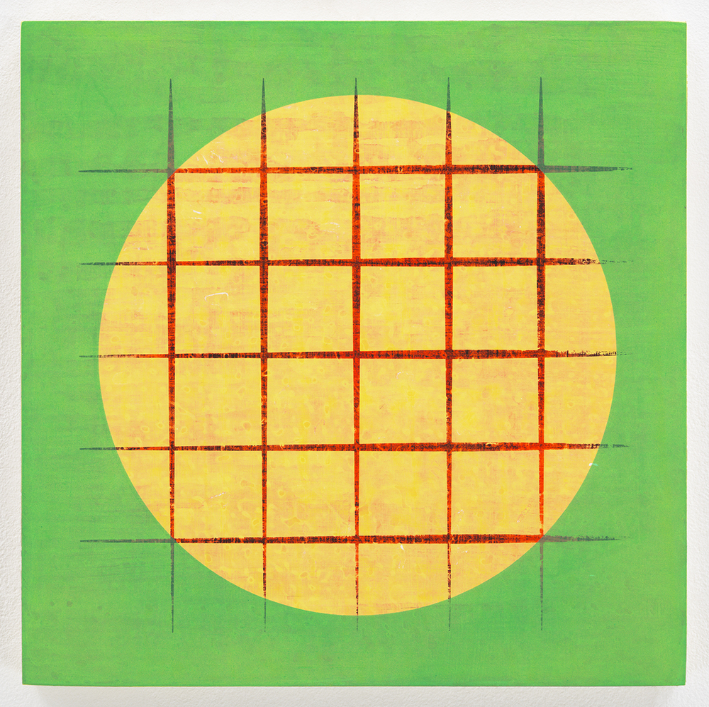 Sun , 2014  Acrylic on panel  12 x 12 inches