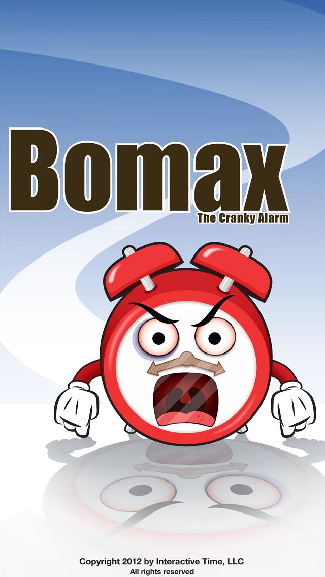 Bomax the Cranky Alarm splash screen
