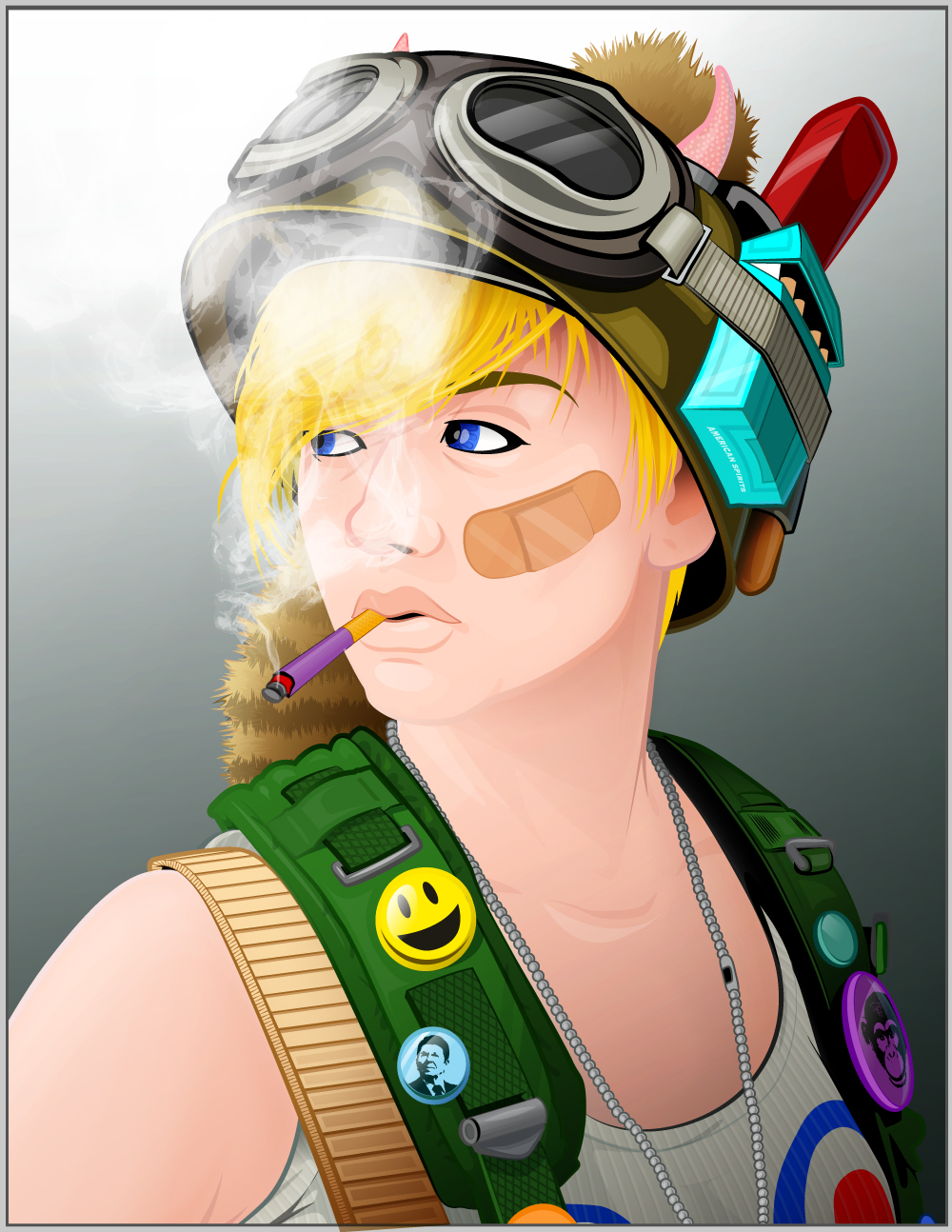 Tank girl influenced illustration