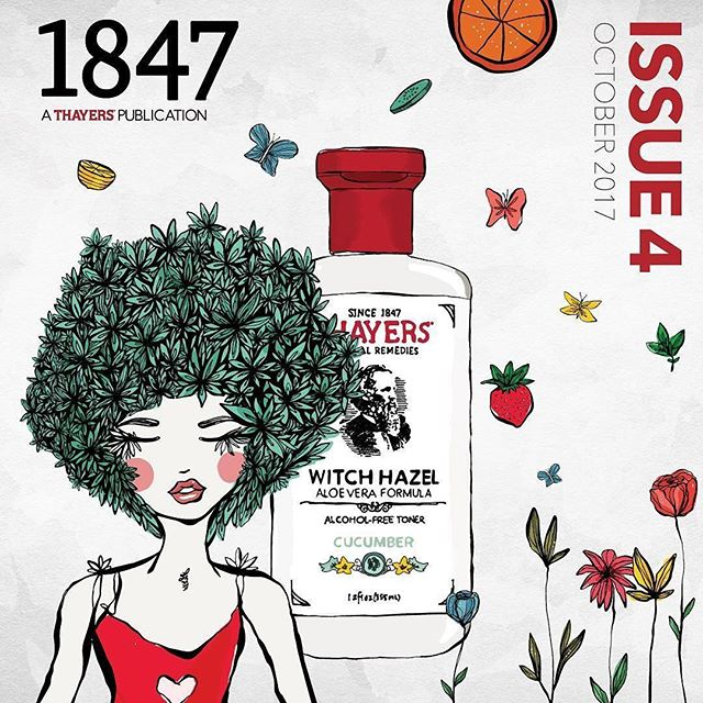 1847 Thayers Magazine cover - Design and Illustration by @sabet #Repost @thayersnatural - Thanks @socialike ・・・ Read, watch, and flip through Issue 4 of #1847Magazine! 💌Inside the mag are 2 Natural Complex recipes, Witch Hazel pairings, wellness tips and more. #linkinbio (ft. @amandapahls and Dr. Sally Byrd)