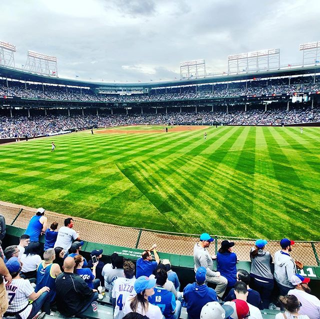 Nice to be back in Wrigley. @cubs