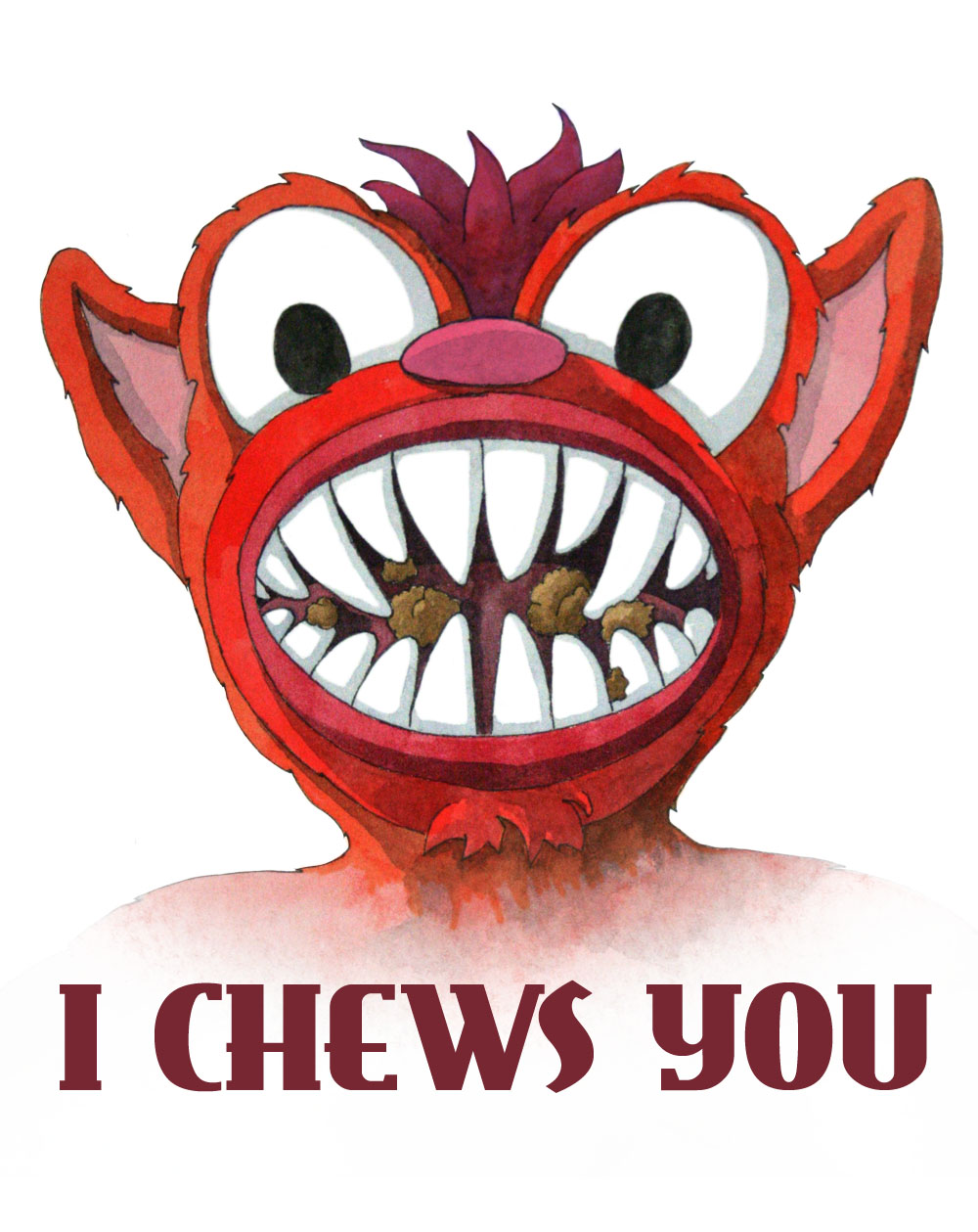 I Chews You Illustration of Monster Eating Things