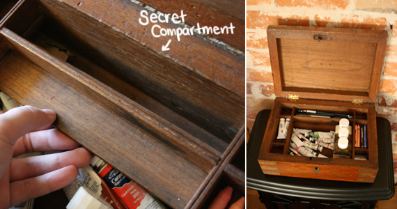 Box with a secret compartment
