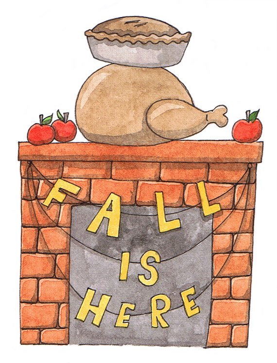 Fall Is Here Illustration by Amanda Farquharson
