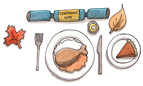 Thanksgiving Place Setting illustration by Amanda Farquharson