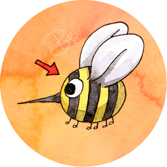 What Finn Ate Bee illustration by Amanda Farquharson