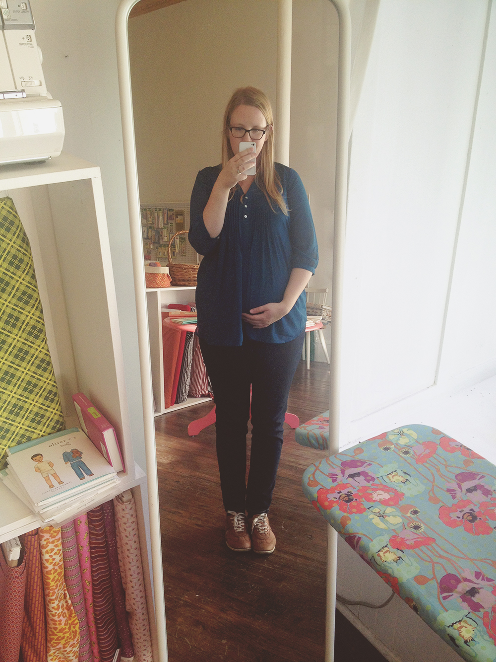 My 'bump' at 16.5 weeks into pregnancy.