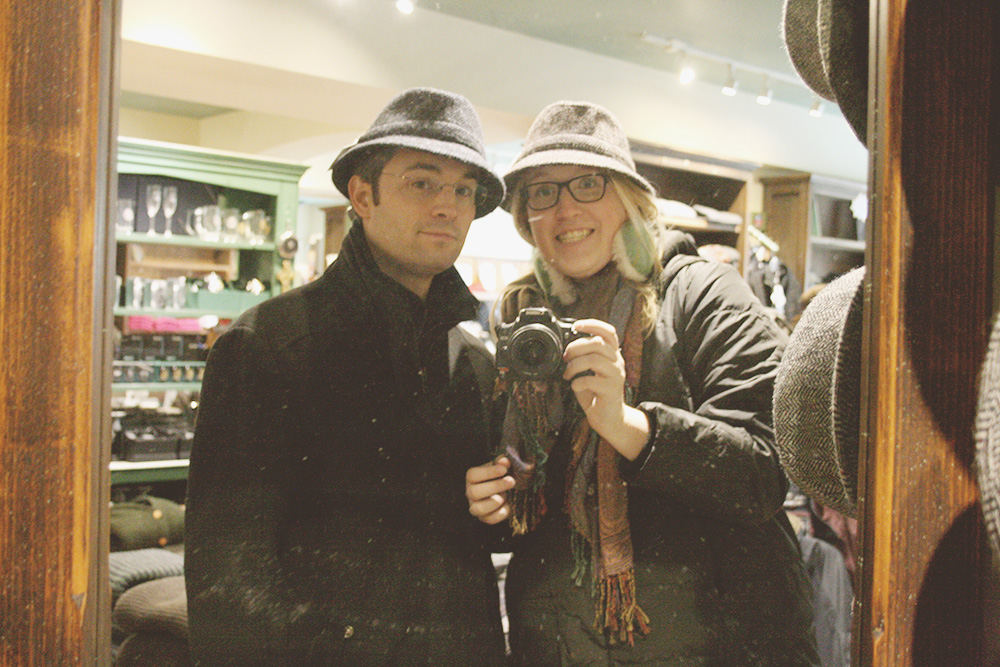 I am obviously way more into trying on hats...