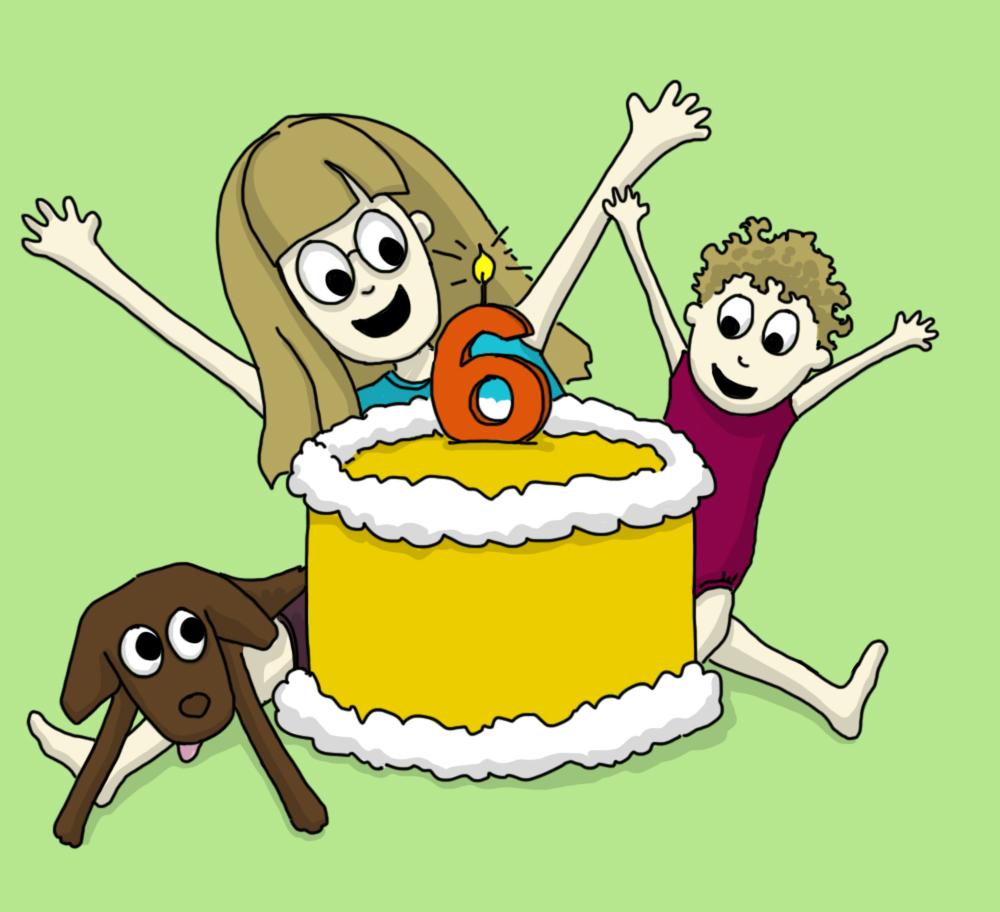 Illustrating this post for old times sake! I wish I really did have a yellow cake...